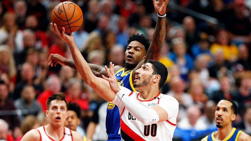 Kanter's Trailblazers are the underdogs in their NBA Finals series against the Golden State Warriors. Pic: Getty