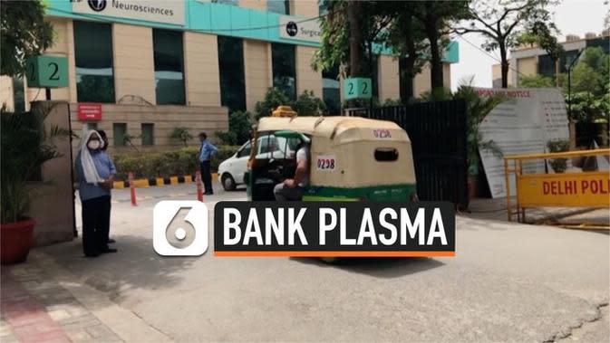 VIDEO: Catat 20 Ribu Kasus per Hari, India Bangun Bank Plasma Darah
