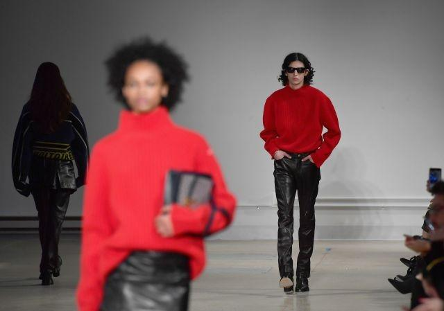 Red and black on the runway for Zadig & Voltaire. New York, February 9, 2020