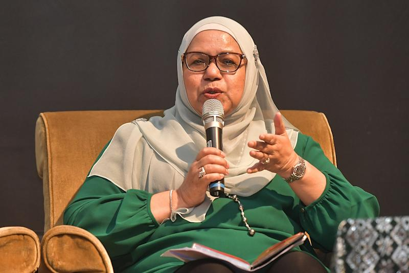 Board member of Universiti Pendidikan Sultan Idris, Datuk Satinah Syed Salleh at the IDEAS 4th Liberalism Conference in Kuala Lumpur October 19, 2019. — Picture by Miera Zulyana