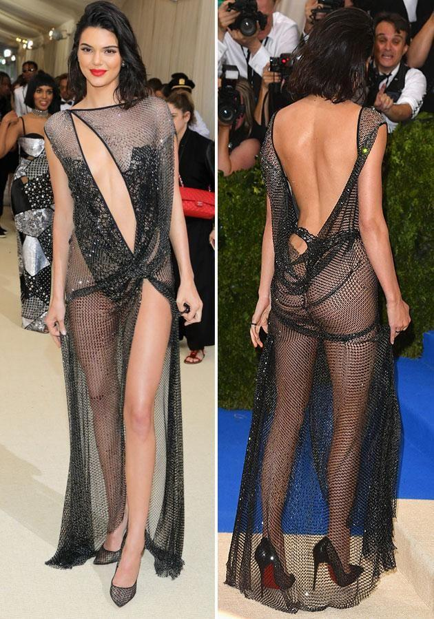 Kendall's looked stunning in her next-to-nothing dress. Photo: Getty