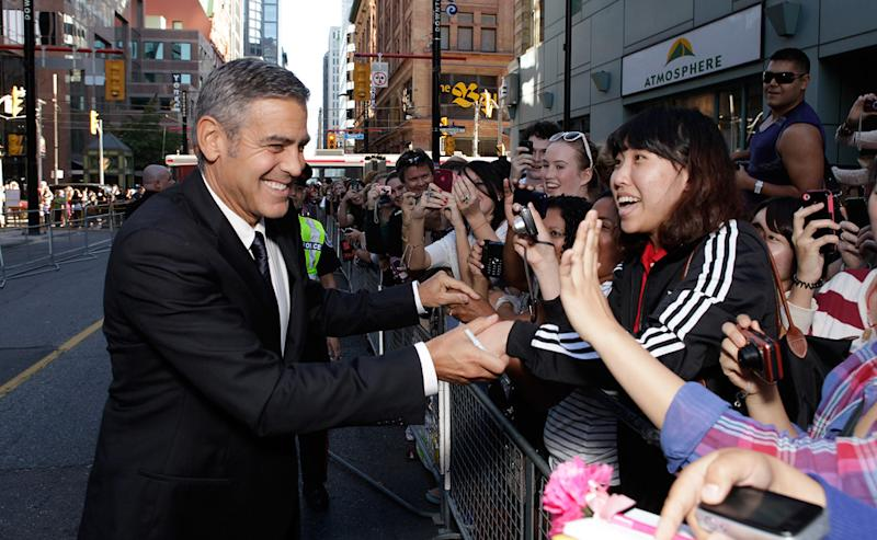 Where's George? Clooney Opts Out of Attending TIFF 13