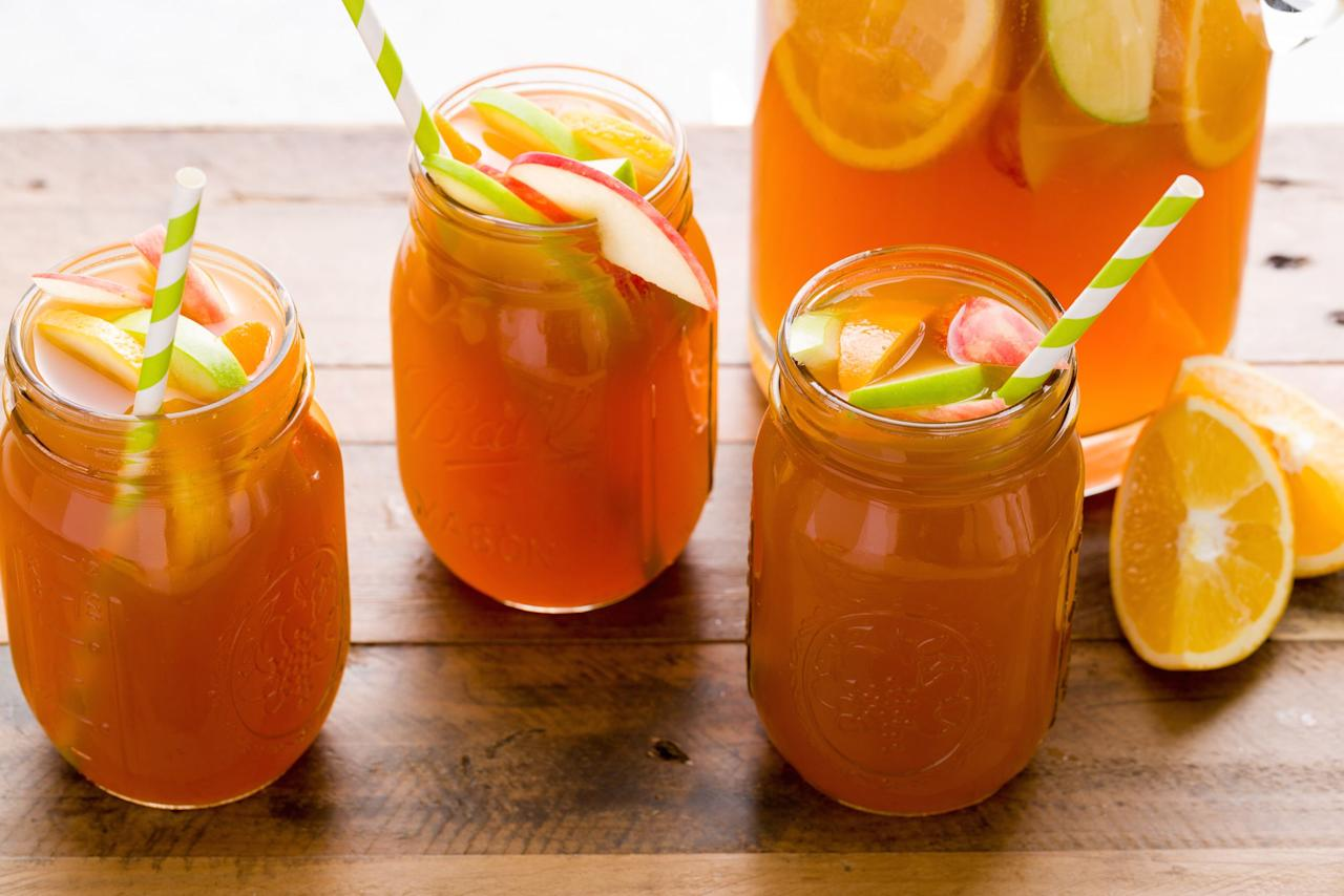 <p>Same drink, different fruits. Try these fall-flavored sangria recipes on Halloween, for Thanksgiving or anytime throughout the season!</p>
