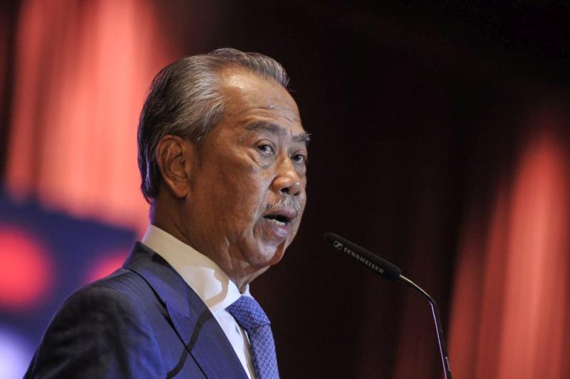 Tan Sri Muhyiddin Yassin says Parti Pribumi Bersatu Malaysia has officially quit Pakatan Harapan. — Picture by Shafwan Zaidon
