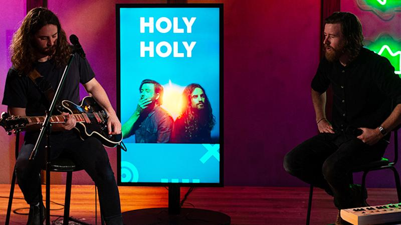 Holy Holy stopped by the BUILD Sydney studios for a live performance. Photo: BUILD