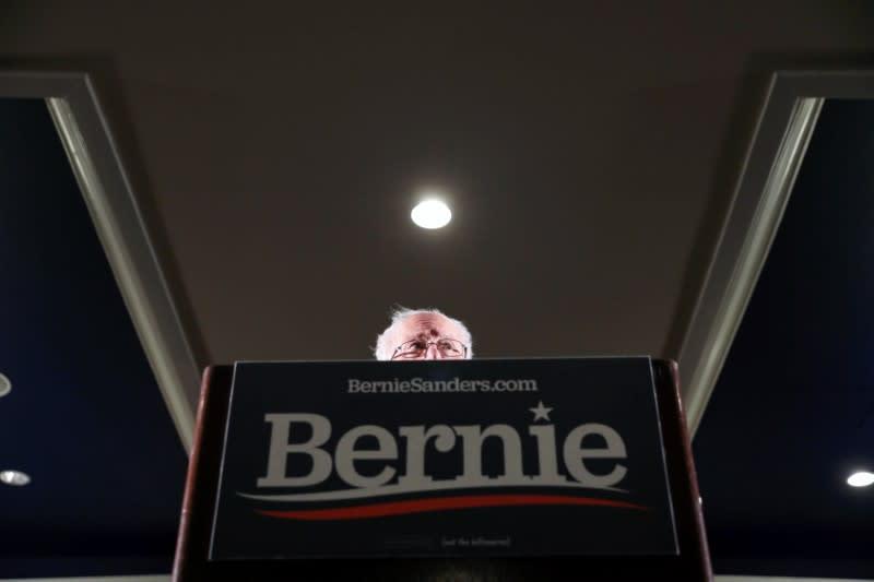 Democratic U.S. presidential candidate Senator Bernie Sanders hosts a climate rally in Iowa City