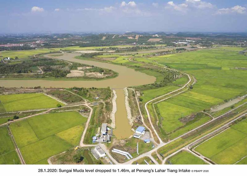 Jaseni warned that the Sungai Muda water level, which is the main source of raw water for the Sungai Dua Water Treatment Plant, is currently low. ― Picture courtesy of PBAPP