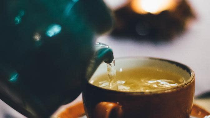 ilustrasi teh hijau. /pexels