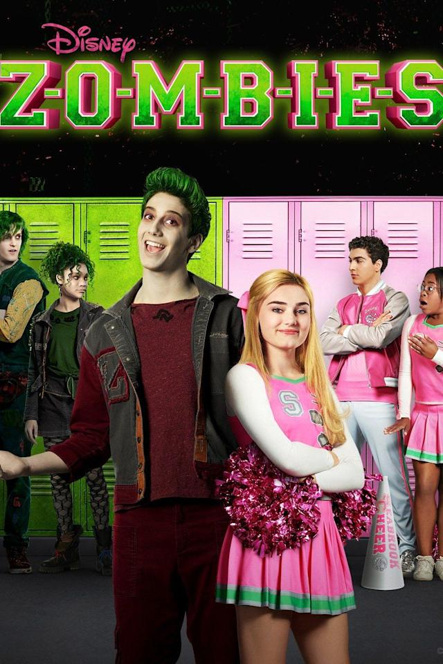 """<p>If you love the <em>High School Musical</em> and <em>Descendants</em> franchises, <em>Zombies</em> is your jam. The age-old tale of outcasts vs. the cool kids gets turned on its head through a catchy soundtrack, epic dance sequences, and a colorful storyline. The costumes are pretty great, too.</p><p><a class=""""body-btn-link"""" href=""""https://go.redirectingat.com?id=74968X1596630&url=https%3A%2F%2Fwww.disneyplus.com%2Fmovies%2Fz-o-m-b-i-e-s%2F6kjGy4OR1In6&sref=https%3A%2F%2Fwww.countryliving.com%2Flife%2Fentertainment%2Fg32748070%2Fdisney-plus-halloween-movies%2F"""" target=""""_blank"""">WATCH NOW</a></p>"""