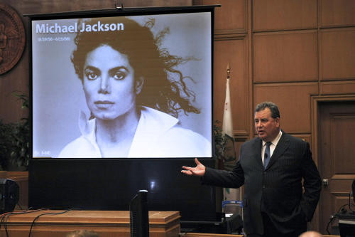 Brian Panish, attorney for the Michael Jackson family delivers his closing argument to jurors in a packed courtroom in downtown Los Angeles, Tuesday, Sept. 24, 2013. Panish asked a Los Angeles jury to act as the conscience of the community and award damages for the loss of the pop star's life. (AP Photo/Los Angeles Times, Al Seib, POOL)