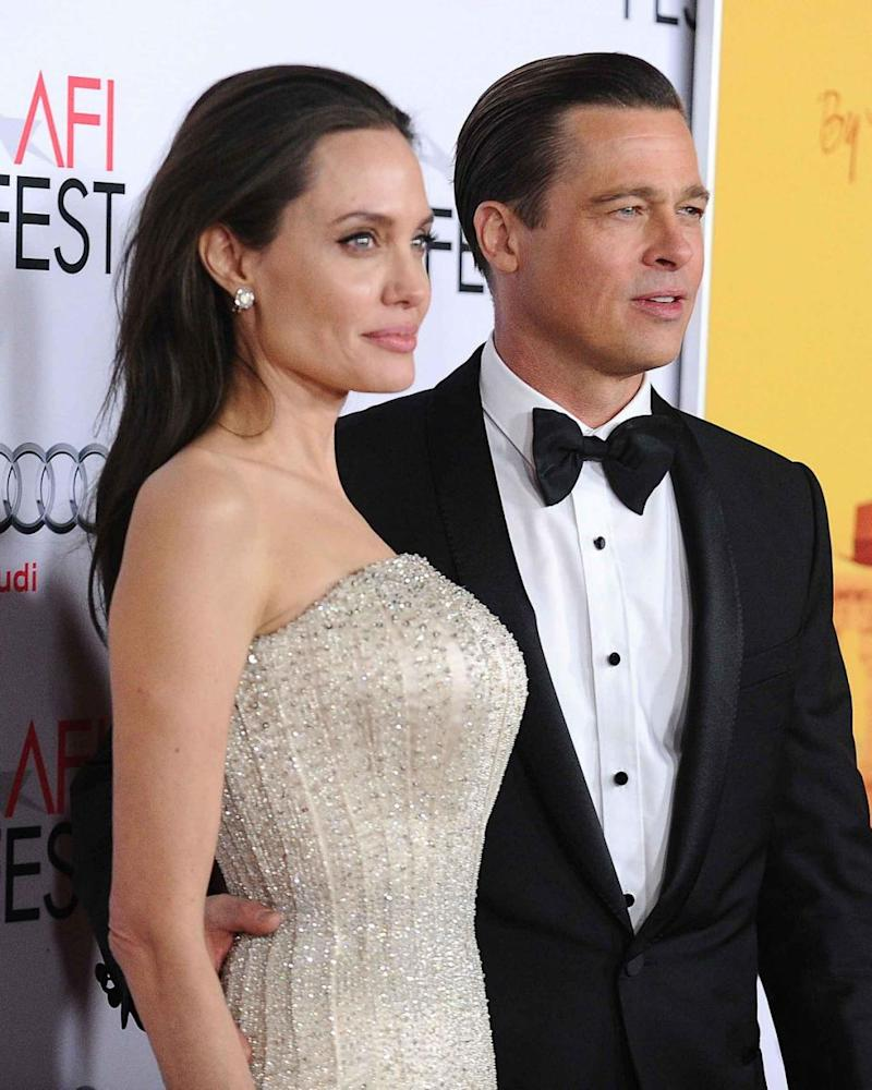 Angelina Jolie and Brad, pictured here in 2015, announced their separation in September 2016. Source: Getty