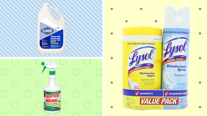 Household disinfectants are available at Amazon: Shop Clorox, Spray Nine and Lysol. (Photo: Amazon)