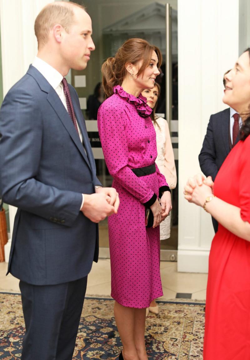 Kate wearing vintage Oscar de la Renta in Ireland in March - Wireimage