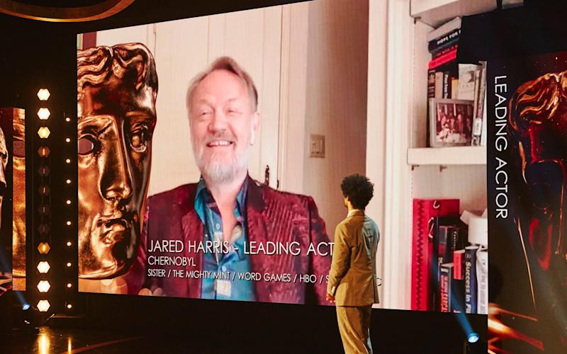Jared Harris receiving his Bafta for Leading Actor  - BAFTA/PA