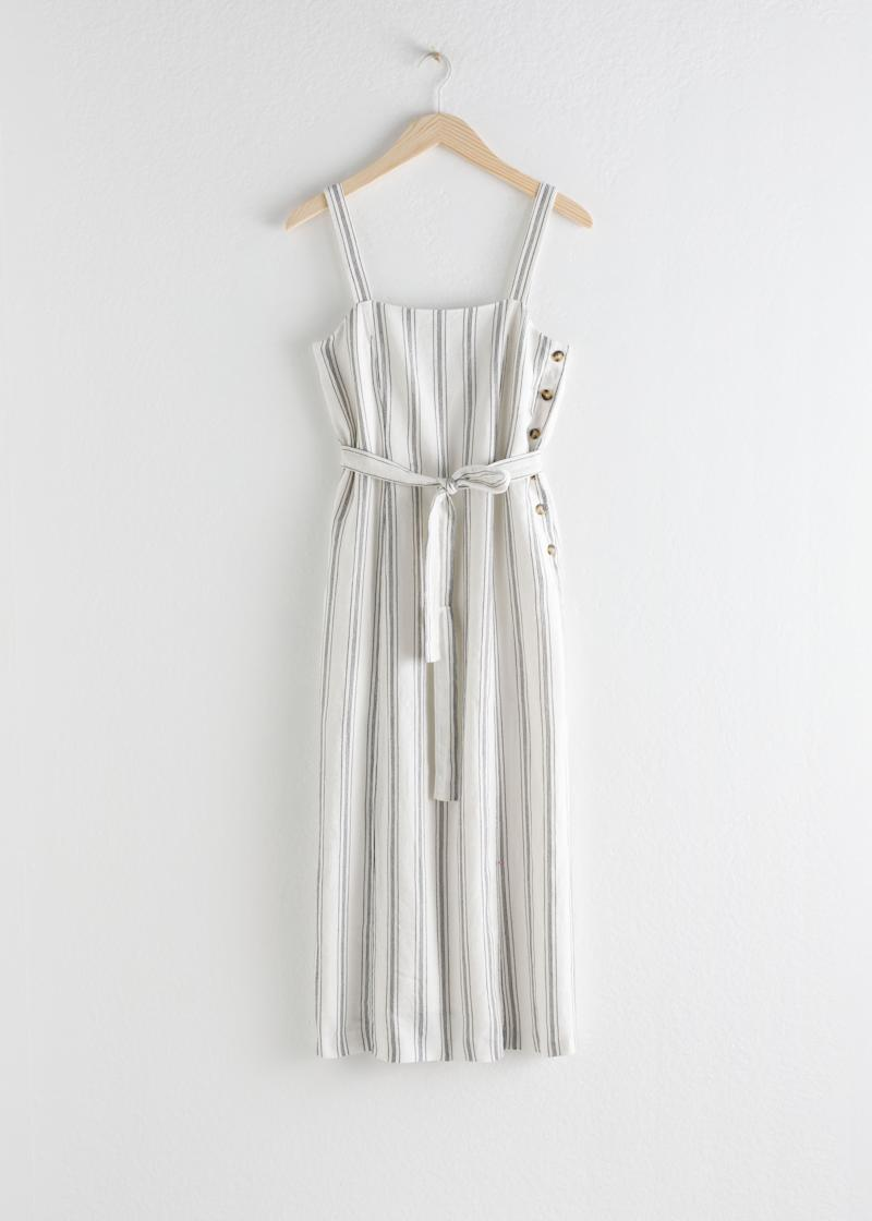 Belted Linen Midi Dress by & Other Stories, £95
