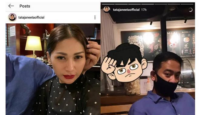 Akun gosip di Instagram sukses menguak pria yang diyakini memegang rambut Tata Janeeta di unggahan terbarunya di Instagram. (https://www.instagram.com/p/CEiqJr0npKY/)