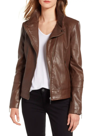 Bernardo Leather Moto Jacket (Photo via Nordstrom)