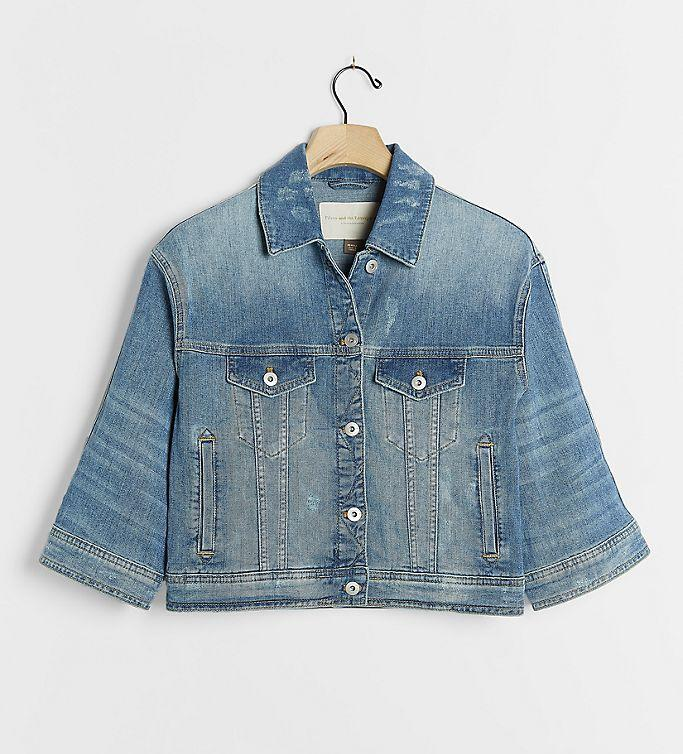 Pilcro Dolman-Sleeved Denim Jacket. Image via Anthropologie.