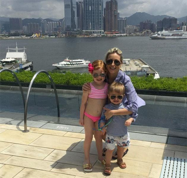 Roxy, Pixie and Hunter in Hong Kong. Source: Instagram