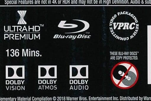 Dolby Atmos label on a Blu-ray disc