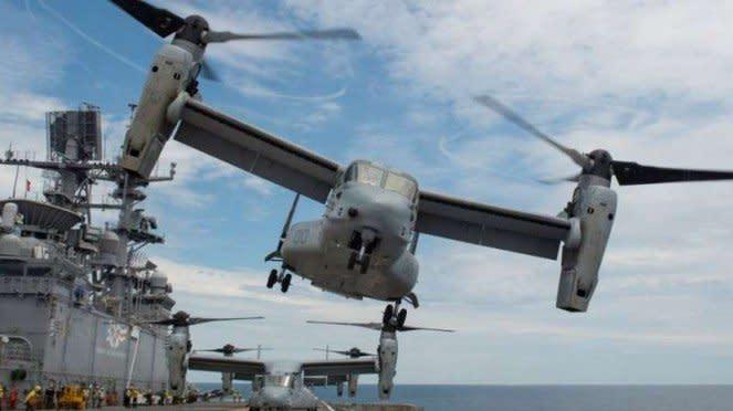 VIVA Militer: Pesawat hibrida tiltrotor MV-22 Osprey