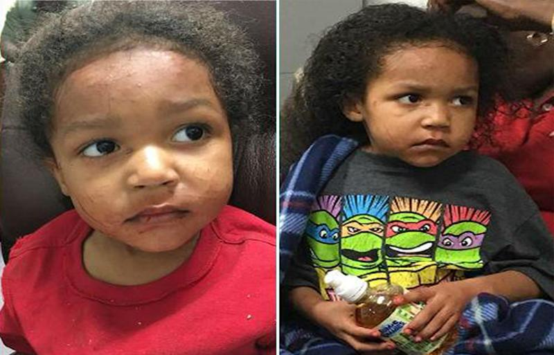 Arkansas US toddler Kylen Holliman and baby brother survives for two days after their mother crashed their car and died at Camden.