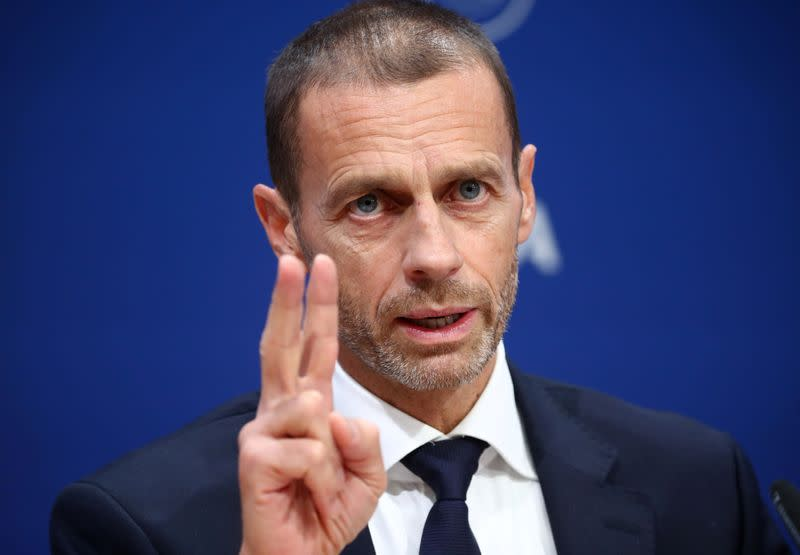 UEFA president criticises VAR use, says football needs uncertainty