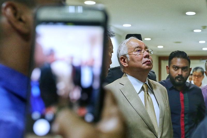 Najib said any cross-party talks with the government should be handled by the party's parliamentary whip or the Opposition leader. — Picture by Ahmad Zamzahuri