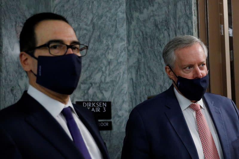 White House seeks limited coronavirus relief bill, promises further talks on broader stimulus