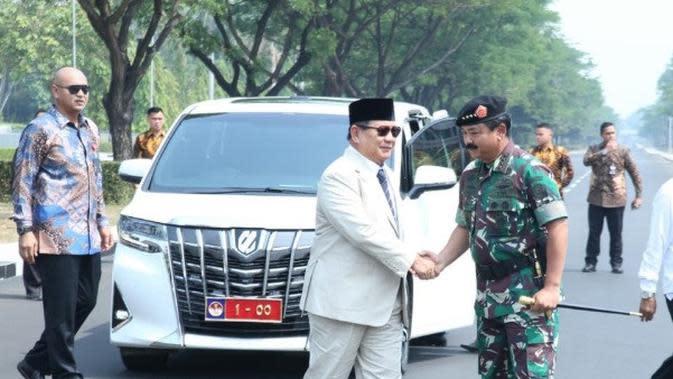 Menhan Prabowo Subianto kunjungi Markas Besar TNI di Cilangkap