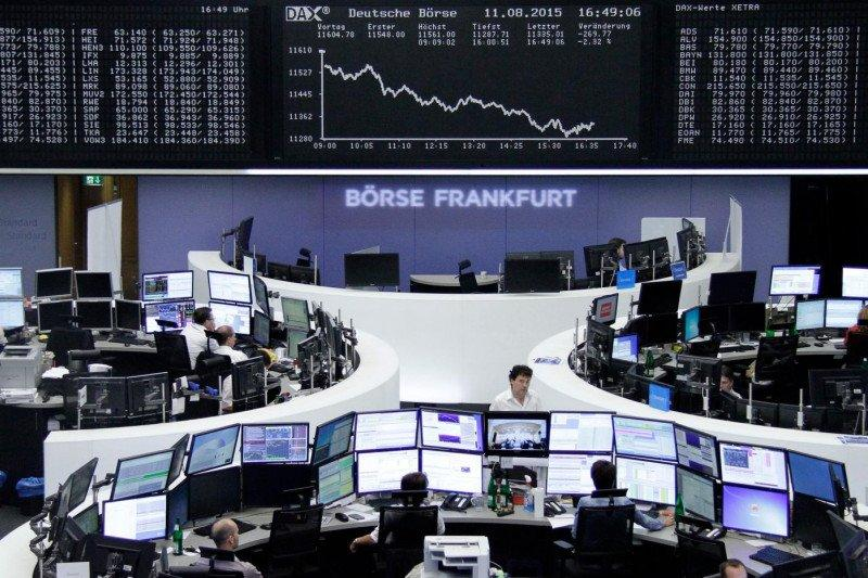Bursa saham Jerman memerah, Indeks DAX 30 ditutup jatuh 3,37 persen