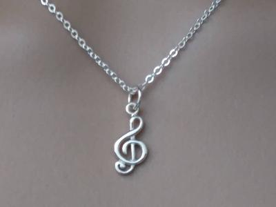 For Women Treble Clef Charm or Necklace Gift for Music Lovers For her Music Jewelry Teachers Musicians 925 Sterling Silver G Clef