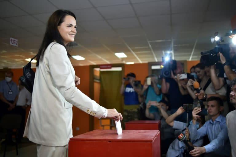 Belarus vote challenger urges sanctions in UN address