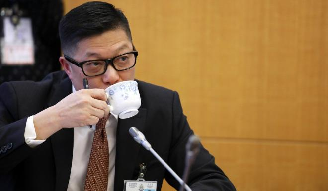 """Commissioner of Police Chris Tang categorically rejected remarks from councillors that there was """"police brutality"""" in Hong Kong. Photo: Xiaomei Chen"""