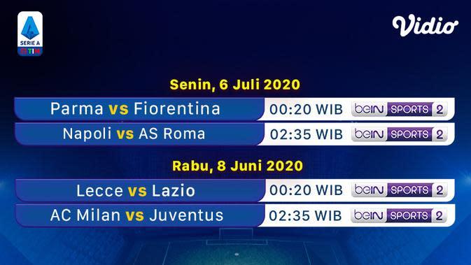 Jadwal Serie A pekan ke-30 di Vidio. (Sumber: Vidio)