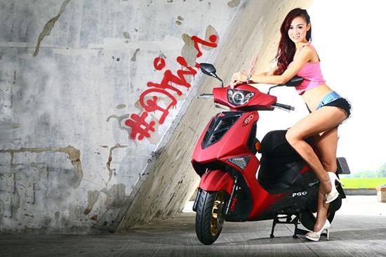 彪虎×蜜糖甜心!PGO Tigra 150 2014限定式樣版&蔡小佩首度邂逅