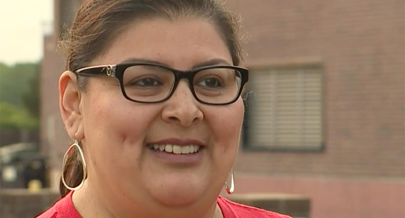 Susie Torres (pictured) thought she had water in her ear but the doctor found a spider.