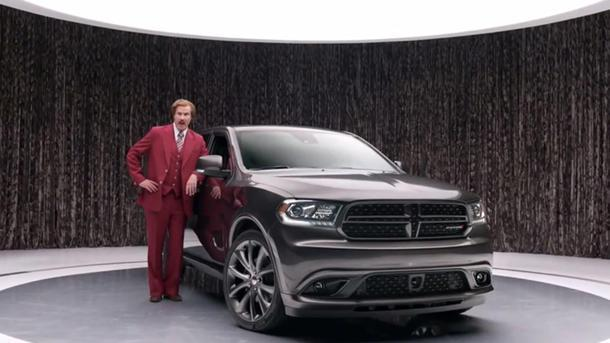 Ron Burgundy offers epic Anchorman tribute to the Dodge Durango's glovebox