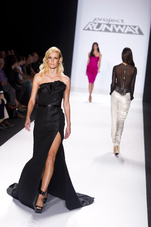Contestant Ven Budhu's designs are modeled at the Project Runway finale fashion show during Fashion Week on Friday, Sept. 7, 2012 in New York. (Photo by Charles Sykes/Invision/AP Images)