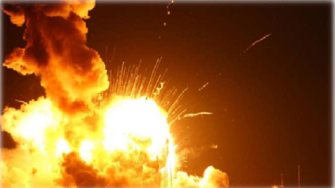 Ledakan Besar di Rusia, Ketinggian Api Setara Bangunan 9 Lantai