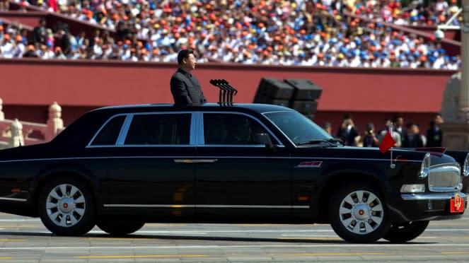 Mobil Hongqi L5 yang ditumpangi Presiden China, Xi Jinping