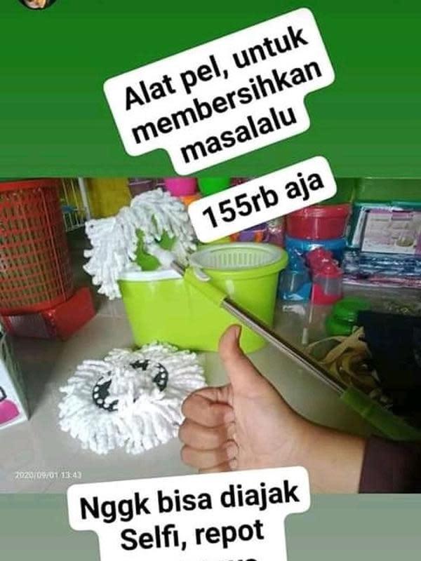 Deretan cara marketing orang saat jualan barang-barang rumah tangga, kocak. (Sumber: Twitter.com/@harisalfarizii)