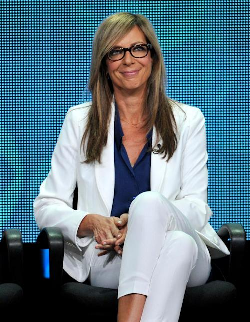 "FILE - In this July 29, 2013 file photo, cast member Allison Janney participates in the ""Mom"" panel at the CBS Summer TCA at the Beverly Hilton hotel in Beverly Hills, Calif. ""Mom,"" airs on Mondays on CBS. (Photo by Chris Pizzello/Invision/AP, File)"