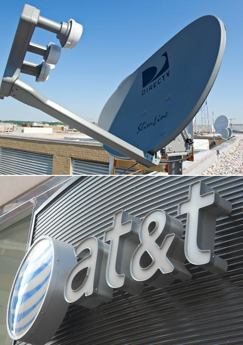 ... Illinois also names cable television providers DirecTV (top) and AT&T