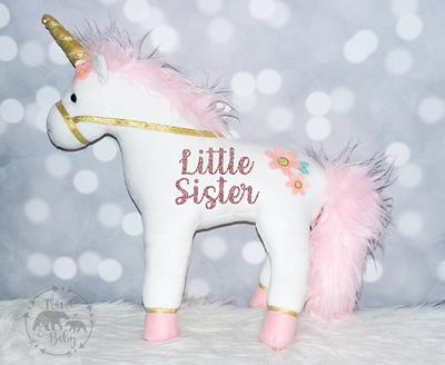 Personalised Big Sister Unicorn Enamel Mugs Girls Gifts Sibling Baby Reveal