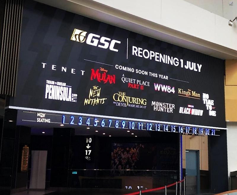 GSC Cinemas reopens today and is offering movie buffs free movie screening, movie offers amid the RMCO. ― Picture via Instagram/gscinemas