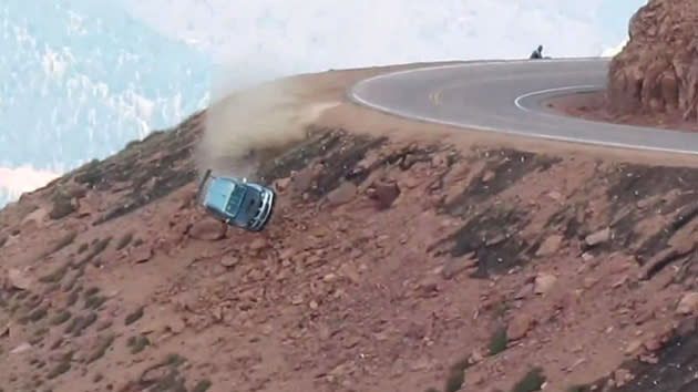 New records set at Pikes Peak climb amid heart-stopping crashes