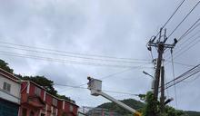 颱風掃過恆春半島逾萬戶停電 台電搶修 (圖)