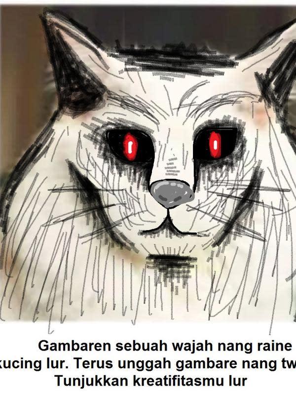 Gambar pada tubuh kucing (Sumber: Twitter/folgermikkel)