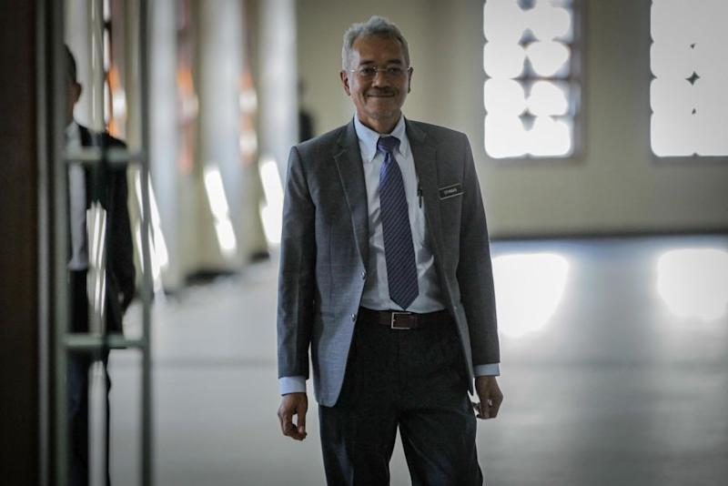 Treasury deputy secretary-general Datuk Othman Semail is pictured at the Kuala Lumpur High Court on February 20, 2020. — Picture by Hari Anggara